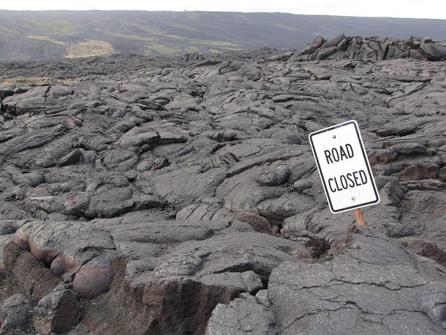 Road Closed: Hawai'i Volcanoes National Park