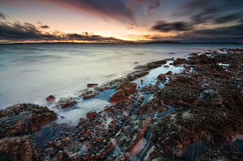 seattle sunset sea beach water soup washington rocks shore alki pugetsound primordial