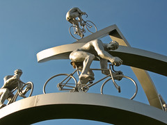 Bicycles in the sky