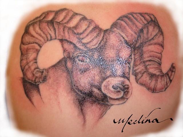 Ram tatt Tattoo by Michael Medina