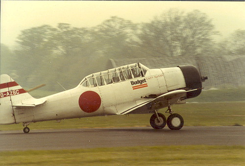 Harvard G-AZSC at North Weald