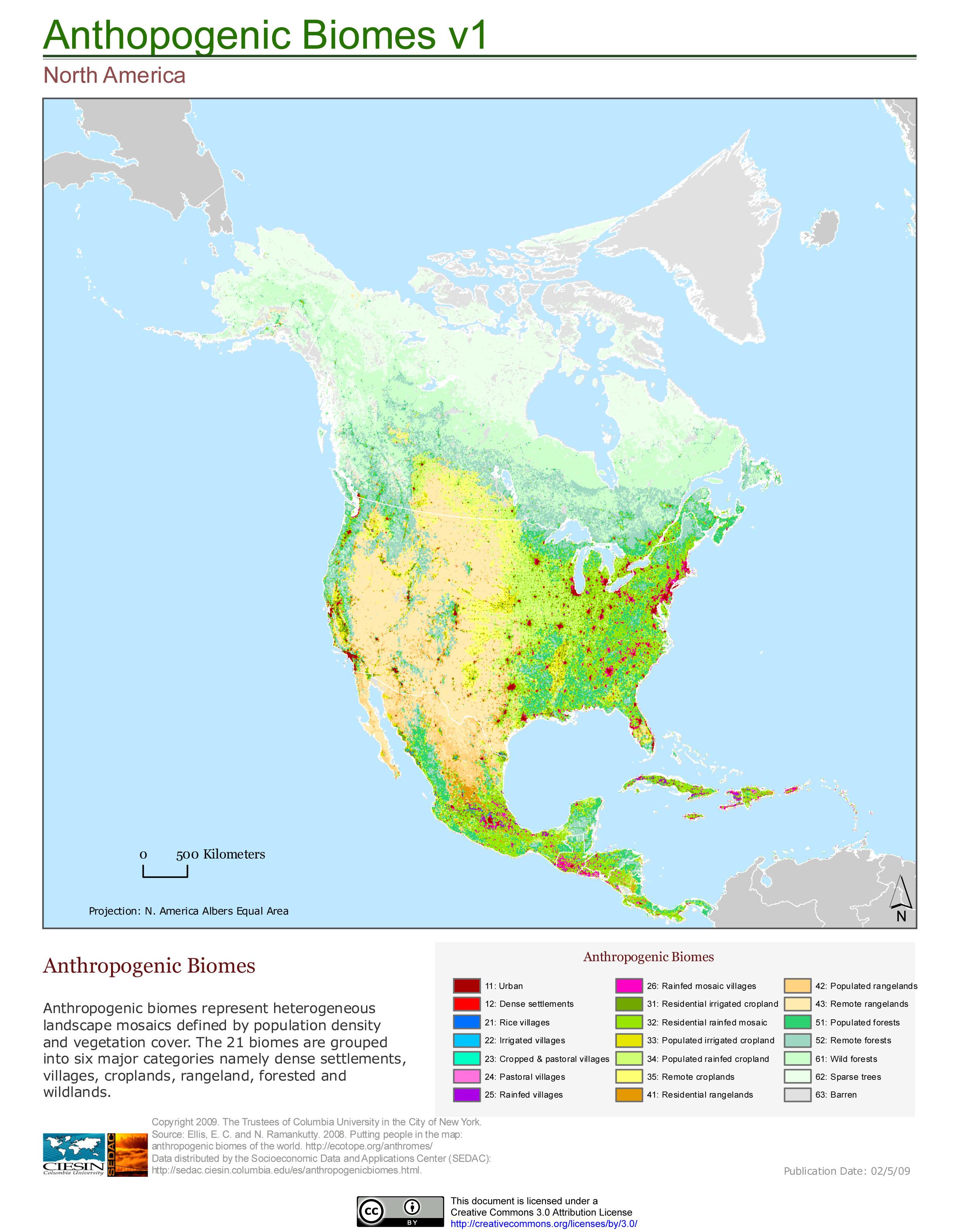 Maps North America Biomes