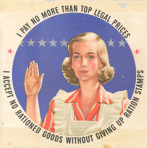 Housewife's Ration Pledge Poster
