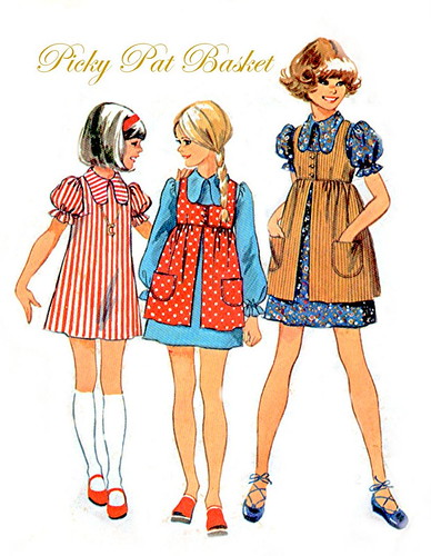girls vintage sewing pattern