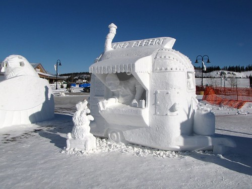 Snow Sculpture Contest the Winner
