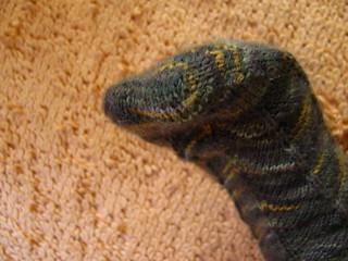 Closeup of Kitchener Stitch Toe