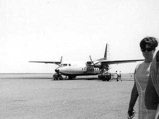 MMA F27 VH-MMS at Port Hedland - October 1964