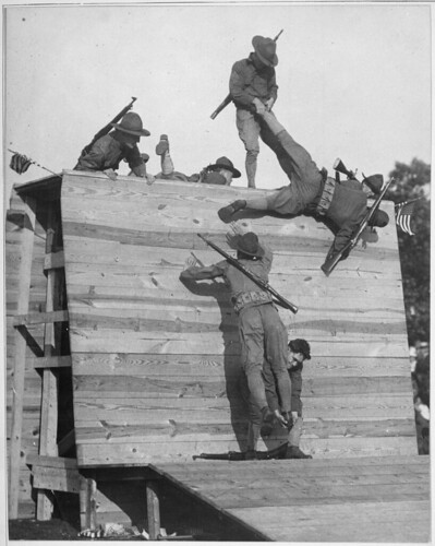 Wall scaling at Camp Wadsworth, South Carolina, ca. 1918