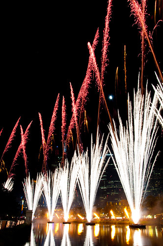 Red and White - Moomba Fireworks