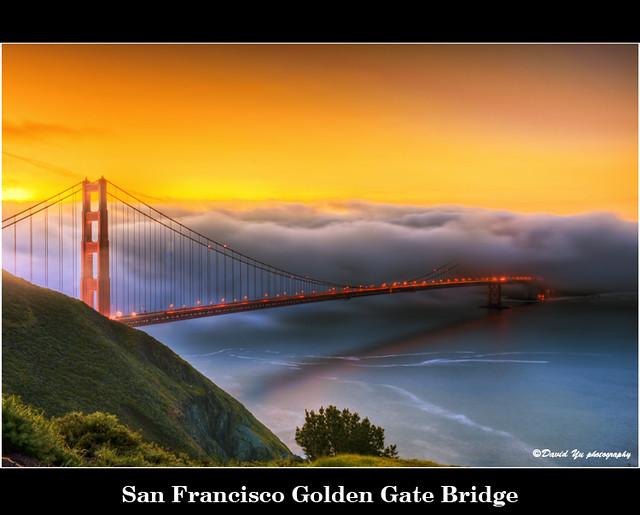 San Francisco Golden Gate Bridge por David Yu