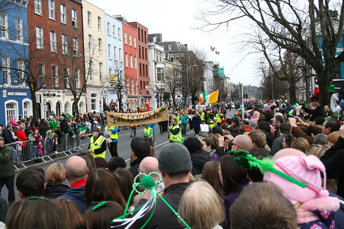 St. Patrick's Day Parade in Cork City, Ireland - South Mall. 1539