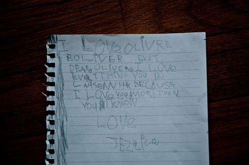 Jessica's letter to Oliver