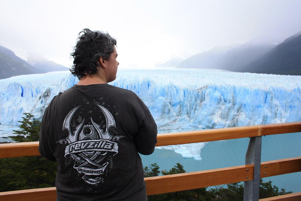 Revzilla at Perito Moreno Glacier
