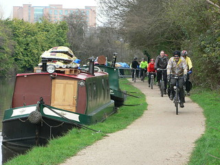 Towpath along the Grand Union Canal