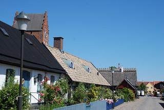 Gammal bebyggelse runt Åhus Kyrka