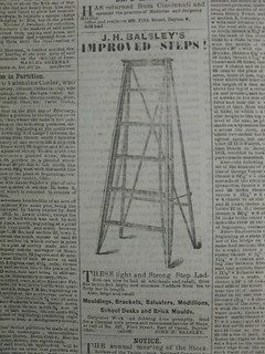 Balsley step ladder advertisement, 1861