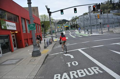 Bike Advisory Committee rides downtown-15