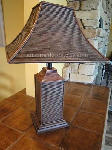 Asian Rattan Lamp