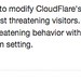 CloudFlare Security Level