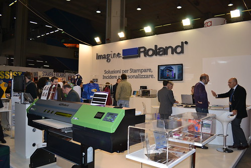 Photo:Lo stand di Roland al PTE 6 By:Roland DG Mid Europe Italia