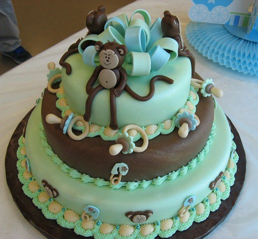 monkey baby shower cake a photo on flickriver