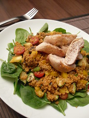 Chicken cous cous salad