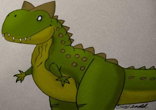 Carnotaurus for Draw a Dinosaur Day 2011