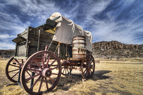 Historic Fort Davis Wagon