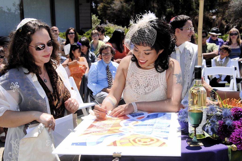 signing the ketubah