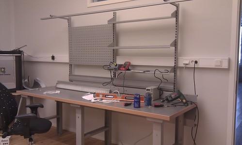 2011-02-19 - Halmstad - CT - Labbet bänk börjar ta form