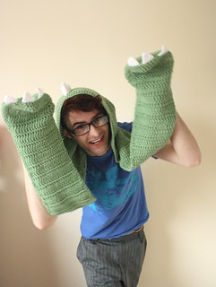 Dinosaur hooded scarf