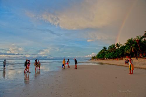 seascape sunrise landscape rainbow philippines shores shorline centralvisayas fongetz francistan dumaluanbeachresort boholprovince