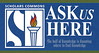 ASK US HERE [Desk Signage]