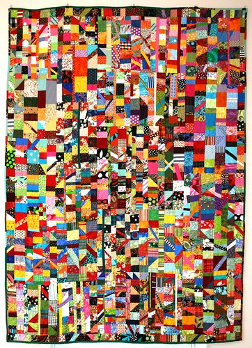 """Confetti"" A true scrap quilt"