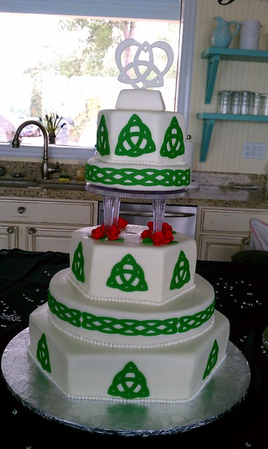 Celtic Wedding Cake This was delivered to a private waterfront resort in