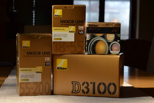 Nikon d3100 with lenses