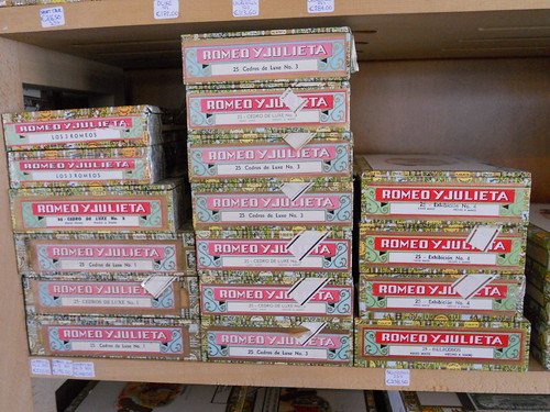 A selection of Romeo Y Julieta Cigars in boxes of 25