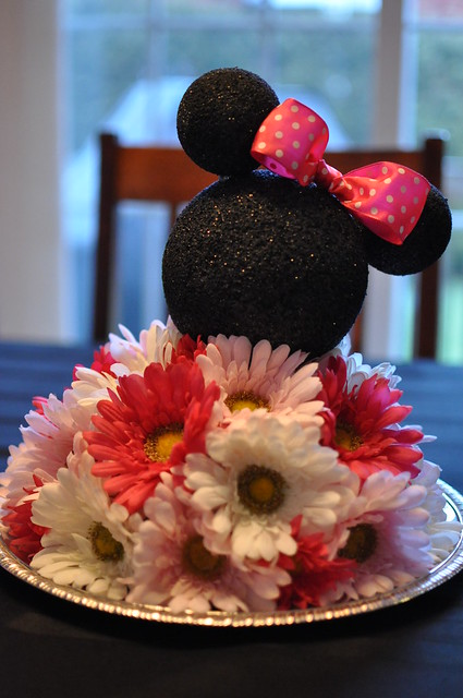 Minnie Mouse Centerpiece Red : E z g