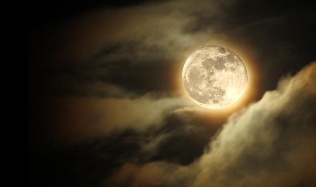 Glowing Moon Landscape