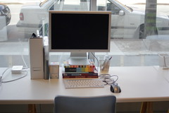 Computer terminal at Greenpoint Coworking