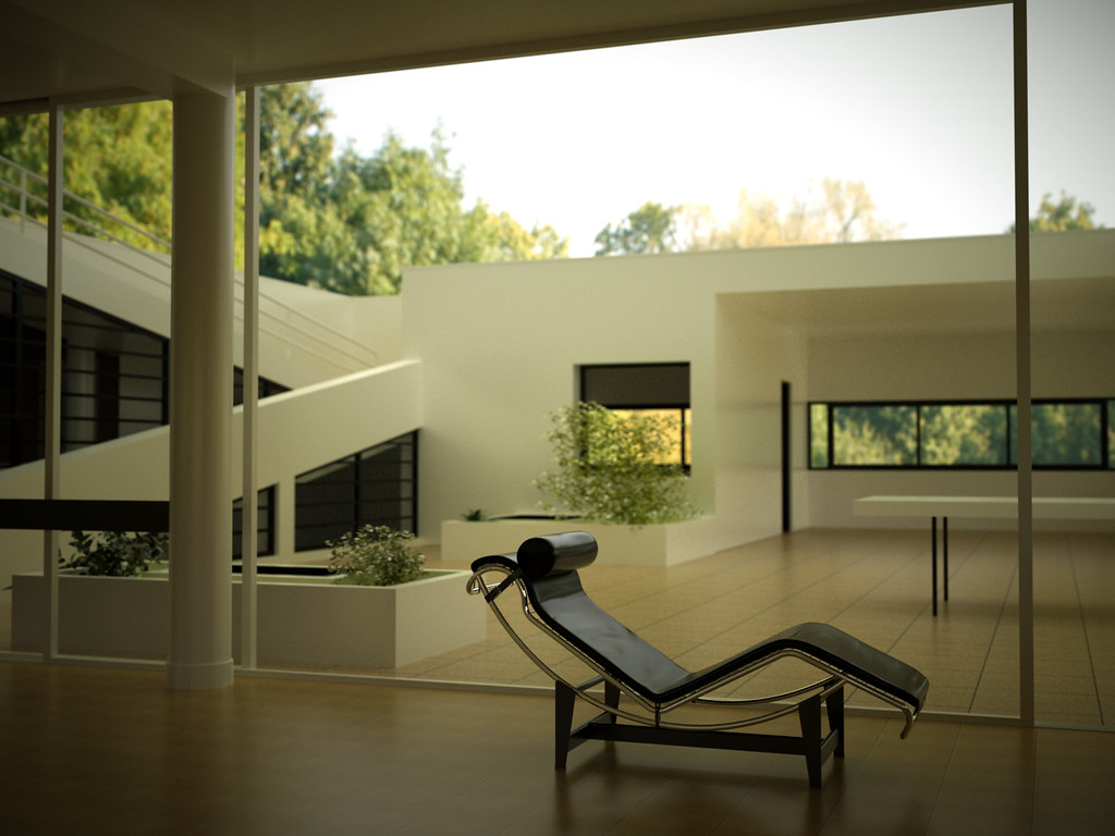 otoy forums view topic villa savoye and more. Black Bedroom Furniture Sets. Home Design Ideas