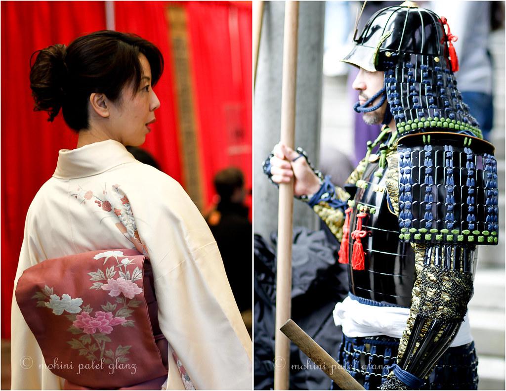 lady in kimono & samurai