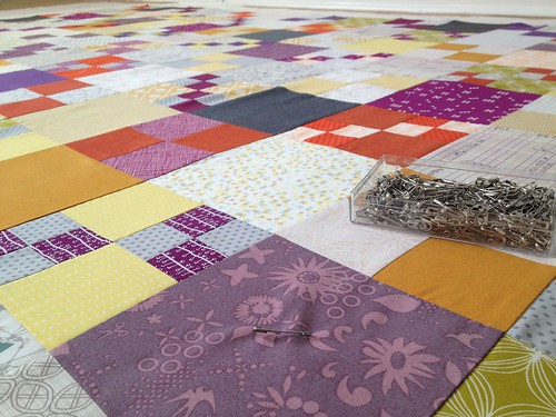 Penny Patch Quilt - Basting