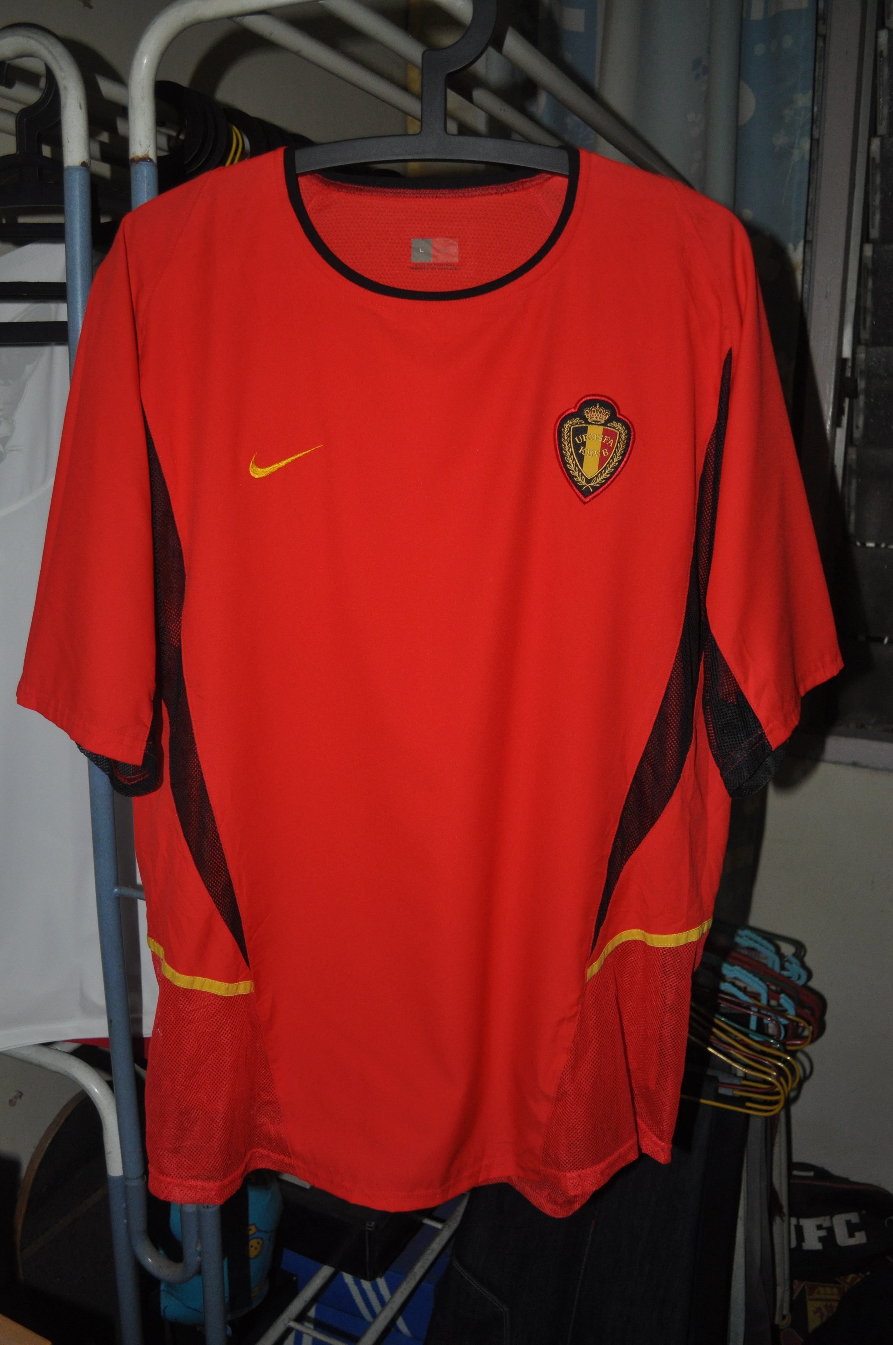 e8ffb16ce4 Worn during 2002 World Cup Korea Japan campaign. It is the player s issue  jersey.