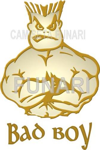 Papel De Parede  Desenho 3d Bad Boy Musculoso Halteres Logo