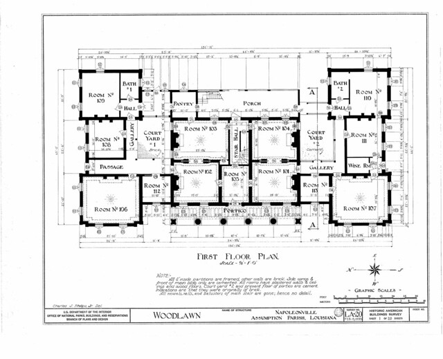 Woodlawn Plantation - First Floor Plan