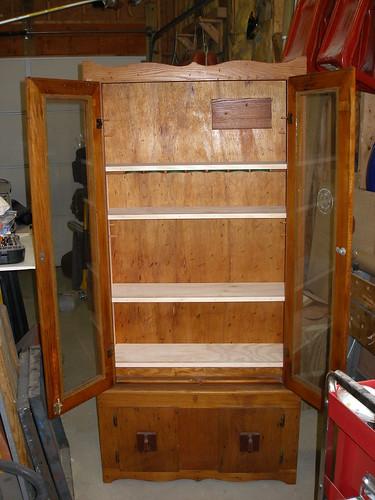 Gun Cabinet to shelved display case