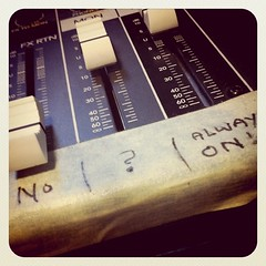 Mixing Board at Radio Valencia