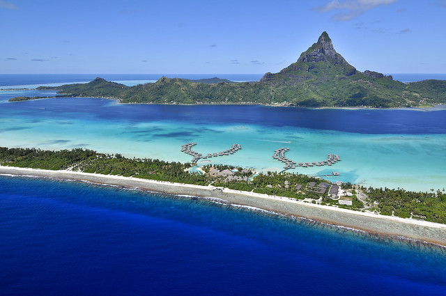 Global aerial view of InterContinental Bora Bora Resort & Thalasso Spa