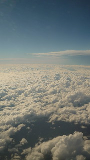 Clouds, seen from an aeroplane window